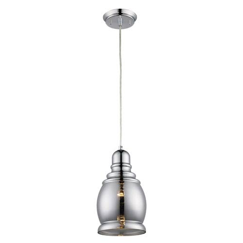 Rhome Polished Chrome Seven-Inch One-Light Mini Pendant