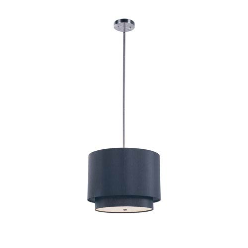Trans Globe Lighting Tiered Shade 15 Inch Wide Mini Drop Pendant In Black -Brushed Nickel