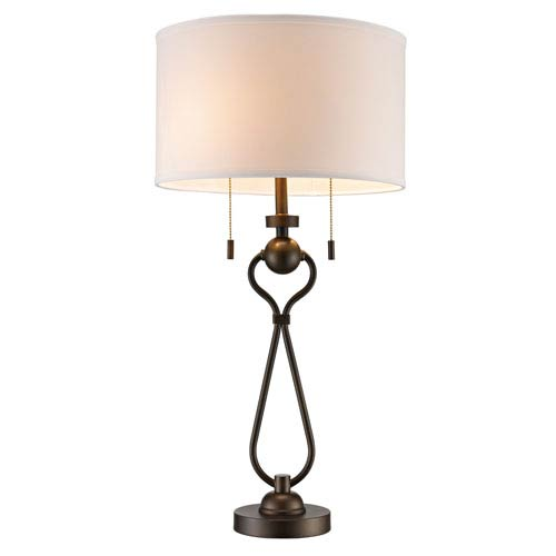 Mulholland Antique Brass Two-Light Table Lamp