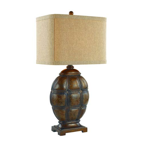 Trans Globe Lighting Faux Tortoise Shell One-Light Table Lamp