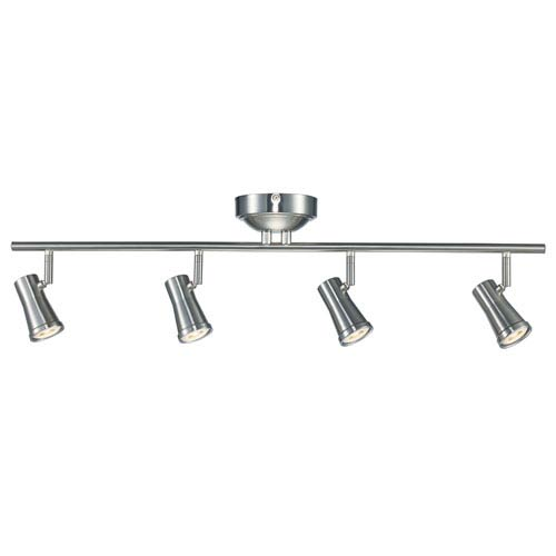 Robbins Brushed Nickel Four Light Led Track