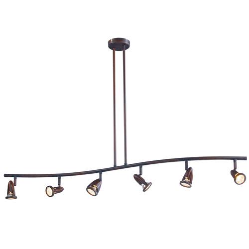 Trans Globe Lighting Rubbed Oil Bronze 6 Light Directional Spotlight with Rubbed Oil Bronze Spotlight Shades