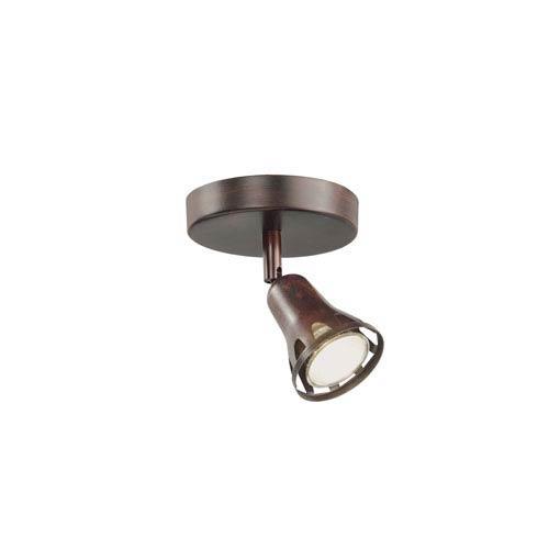 Contemporary Track Single Spot Light Rubbed Oil Bronze