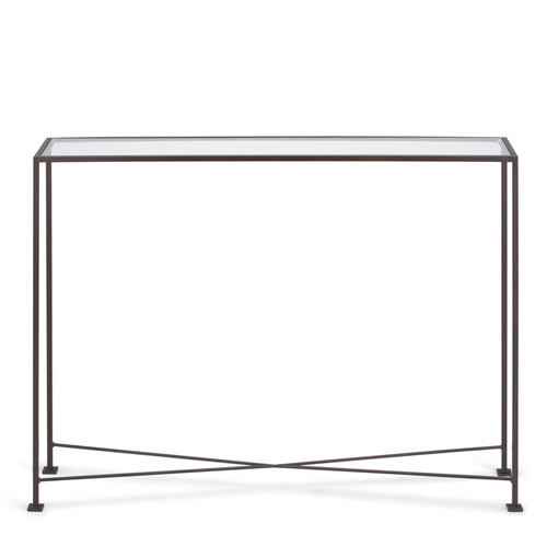Diversey Glass Console Table 10X48