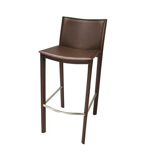 Elston Dark Brown Bar Stool
