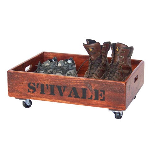 2-Day Designs Pine Boot Caddy