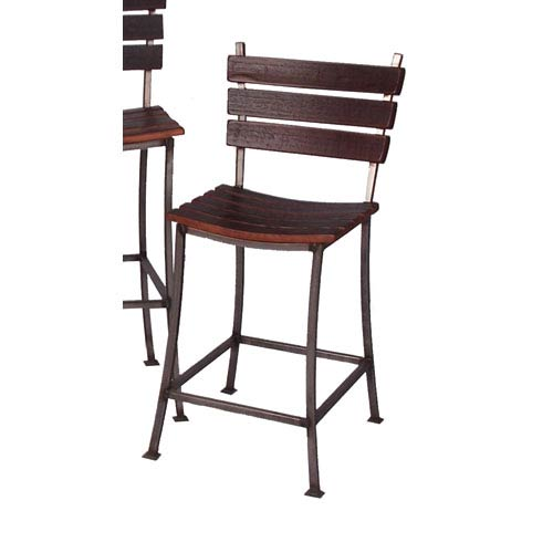 2-Day Designs Pine Stave Back 24-Inch Bar Stool