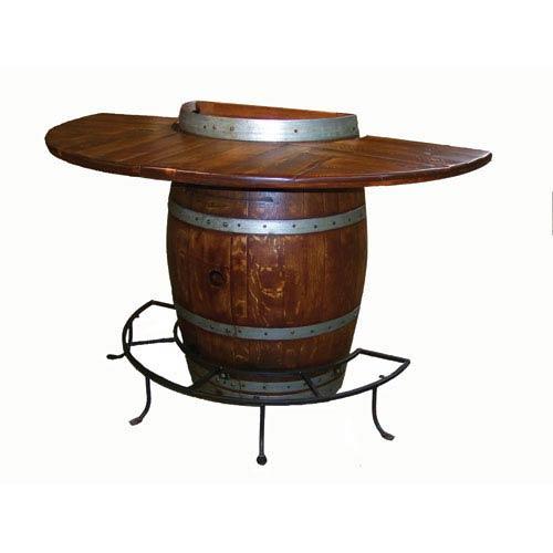 Pine Half Barrel Bistro Table