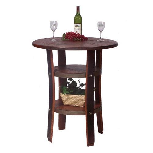 2-Day Designs Napa Pine Bistro Table