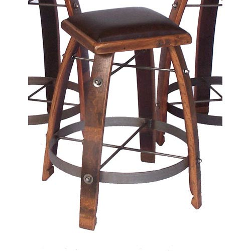 2-Day Designs Caramel 26-Inch Stool with Chocolate Leather Seat