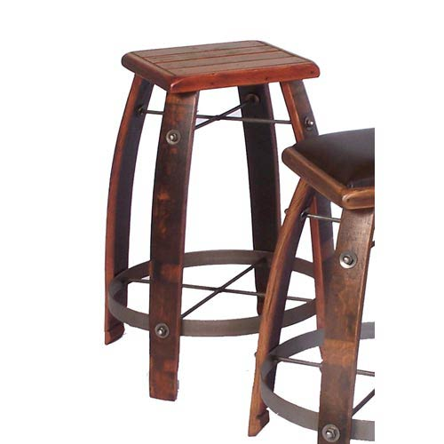 Stave Stool with Wood Top
