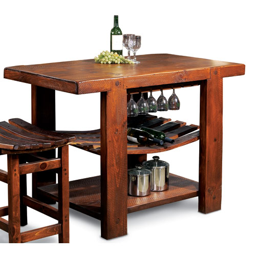 2-Day Designs Russian River Pine Kitchen Island