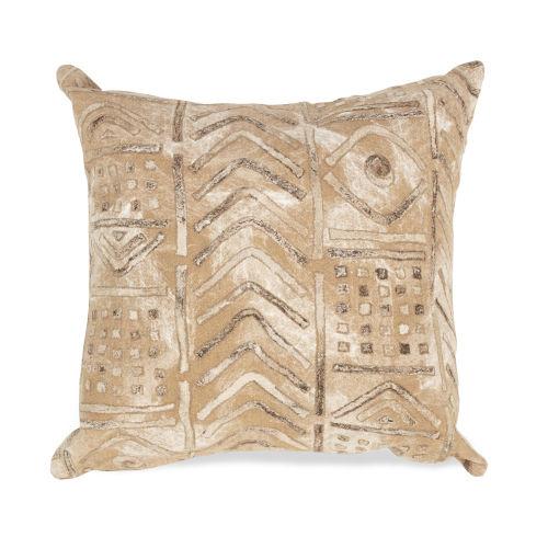 Liora Manne Visions III Biscotti Bambara Indoor/Outdoor Pillow