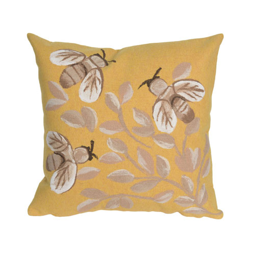 Visions III Honey 20-Inch Bees Outdoor Pillow