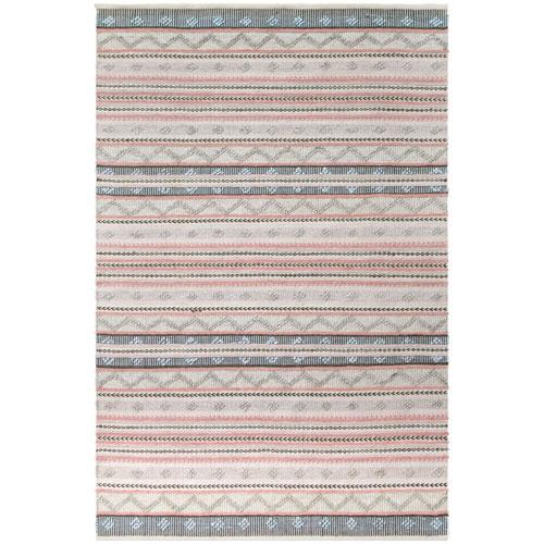 Cosmos Pastel Rectangular Gypsy Stripe Outdoor Rug
