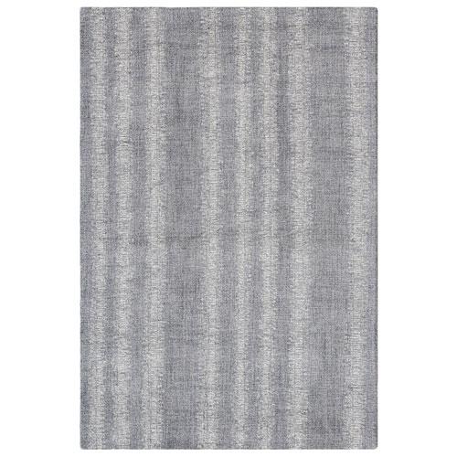 Cyprus Silver Rectangular Ombre Stripe Indoor Rug