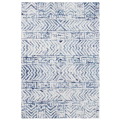 Cyprus White Rectangular Batik Indoor Rug