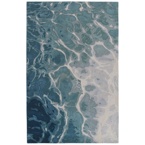 Corsica Blue Water Rug