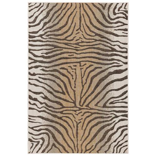 Carmel Sand Zebra Indoor/Outdoor Rug