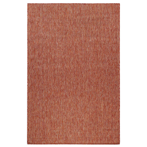 Carmel Silver Rectangular 7 Ft. 10 In. x 9 Ft. 10 In. Texture Stripe Outdoor Rug