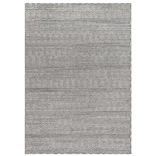 Cove Grey Rectangular Diamond Stripe Outdoor Rug