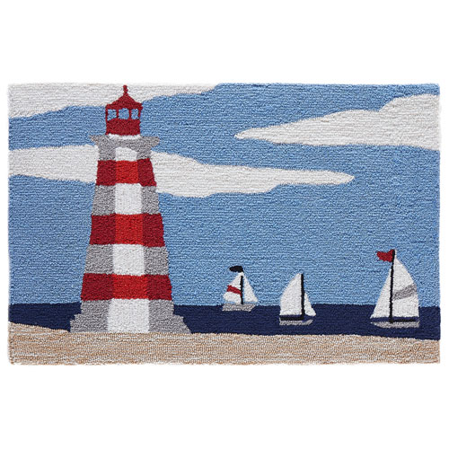 Frontporch Natural Rectangular 30 In. x 48 In. Lighthouse Outdoor Rug