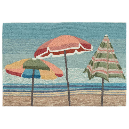 Frontporch Natural Rectangular 30 In. x 48 In. Beach Umbrellas Outdoor Rug