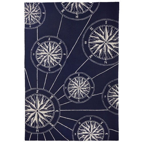 Frontporch Natural Rectangular 42 In. x 66 In. Compass Outdoor Rug