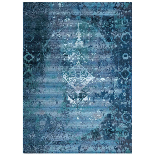 Marina Blue Kermin Indoor/Outdoor Rug