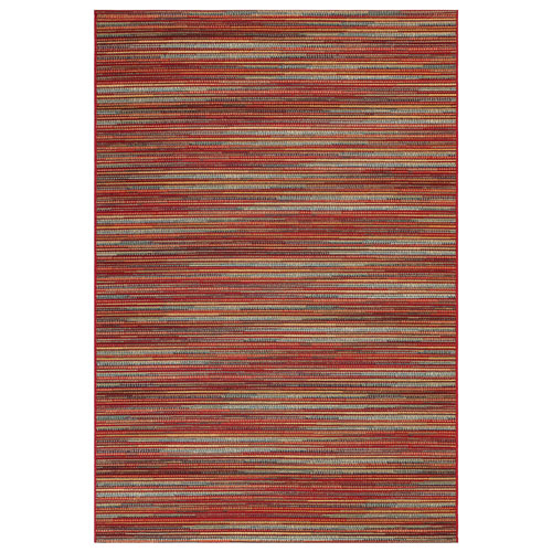Marina Saffron Rectangular Stripes Outdoor Rug