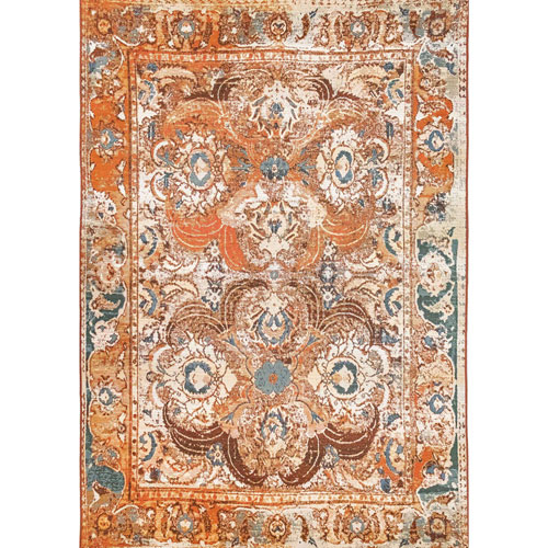 Marina Amber Rectangular Kashan Outdoor Rug