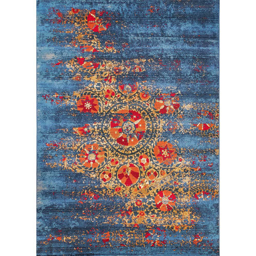 Marina Blue Rectangular Suzanie Outdoor Rug