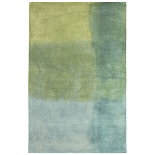 Piazza Blue Rectangular Watercolors Indoor Rug