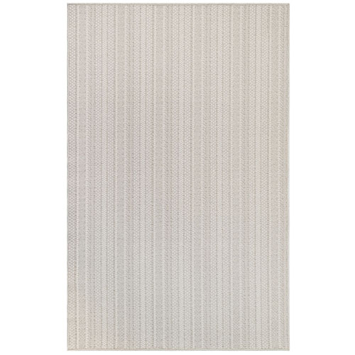 Plymouth Taupe Rectangular Texture Stripe Outdoor Rug