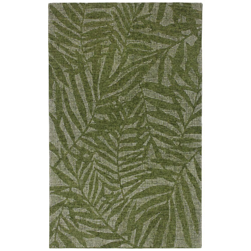 Savannah Warm Rectangular 7 Ft. 6 In. x 9 Ft. 6 In. Olive Branches Indoor Rug