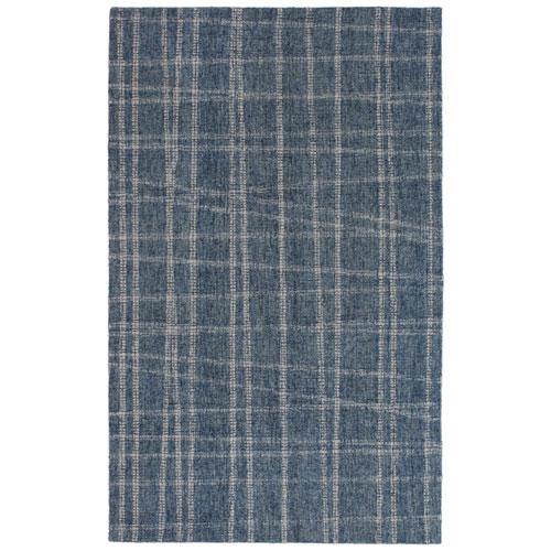 Savannah Blue Rectangular Mad Plaid Indoor Rug