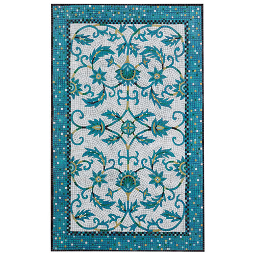 Visions IV Blue Rectangular Palazzo Outdoor Rug