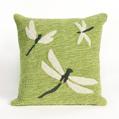 Liora Manne Frontporch Green Square 18 In. Indoor/Outdoor Pillow