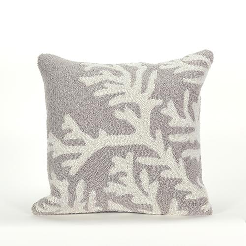 Trans Ocean Import Liora Manne Frontporch Grey Square 18 In. Indoor/Outdoor Pillow