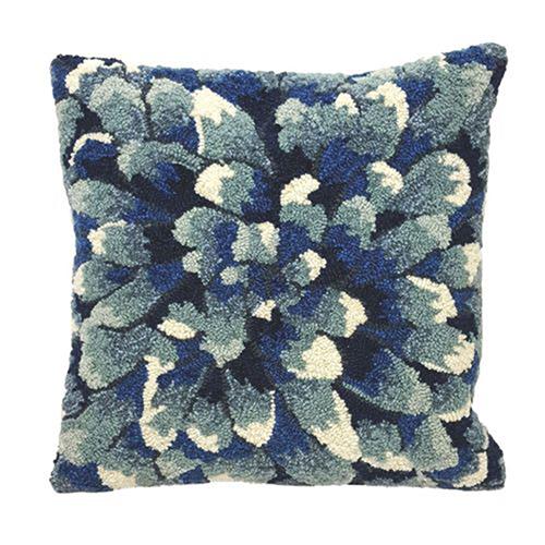 Trans Ocean Import Liora Manne Frontporch Blue Square 18 In. Indoor/Outdoor Pillow