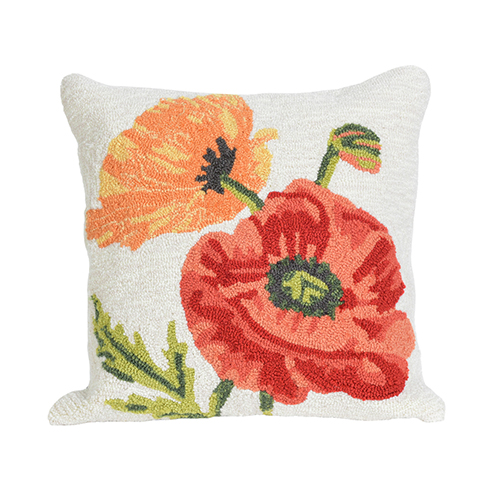 Liora Manne Frontporch Natural Square 18 In. Indoor/Outdoor Pillow