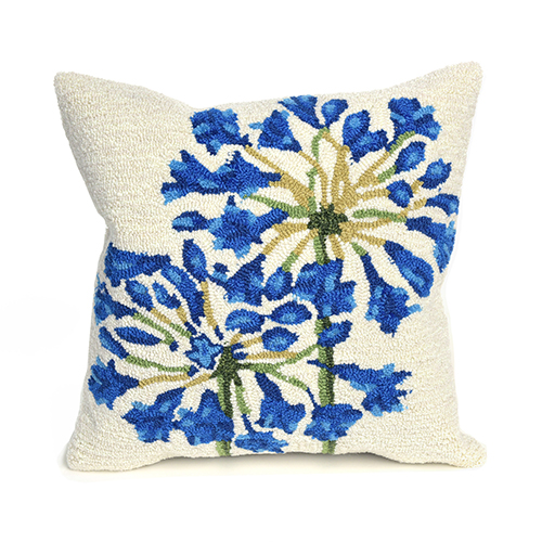 Trans Ocean Import Liora Manne Frontporch Natural Square 18 In. Indoor/Outdoor Pillow