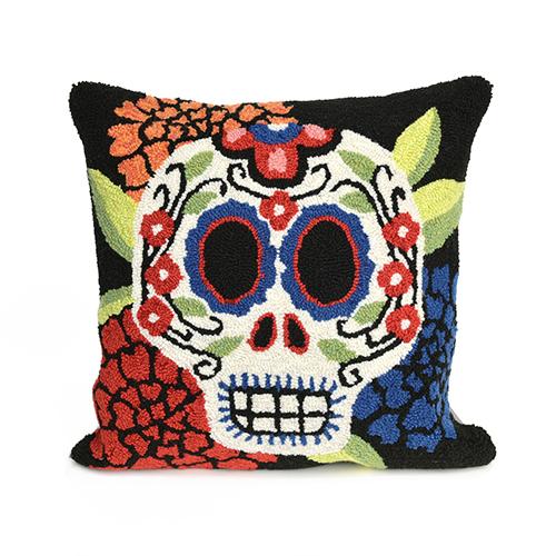 Liora Manne Frontporch Black Square 18 In. Indoor/Outdoor Pillow