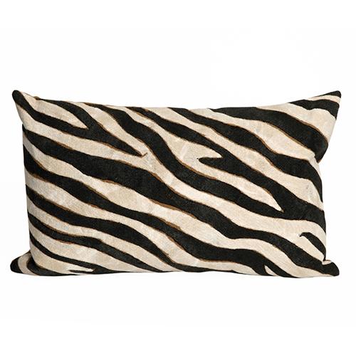 Liora Manne Visions I Black Rectangular 12 x 20 In. Indoor/Outdoor Pillow