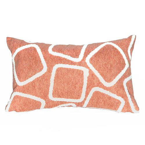 Trans Ocean Import Liora Manne Visions I Orange Rectangular 12 x 20 In. Indoor/Outdoor Pillow