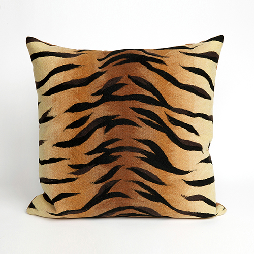 Liora Manne Visions I Brown Square 20 In. Indoor/Outdoor Pillow