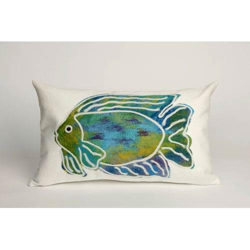 Trans Ocean Import Batik Fish Aqua Pillow