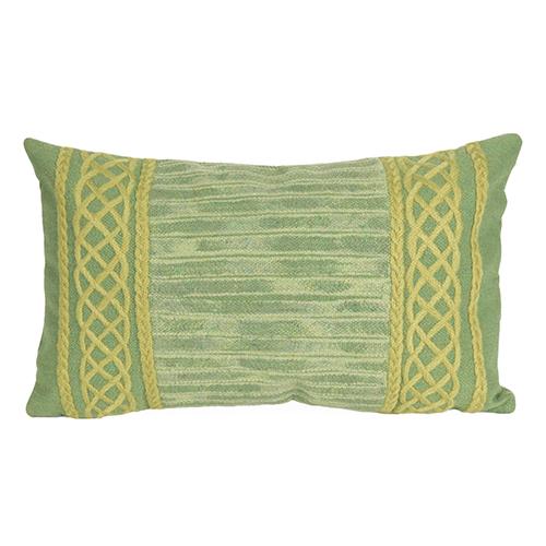 Trans Ocean Import Liora Manne Visions II Sage Rectangular 12 x 20 In. Indoor/Outdoor Pillow
