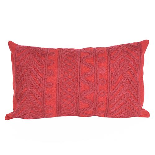 Liora Manne Visions II Red Rectangular 12 x 20 In. Indoor/Outdoor Pillow