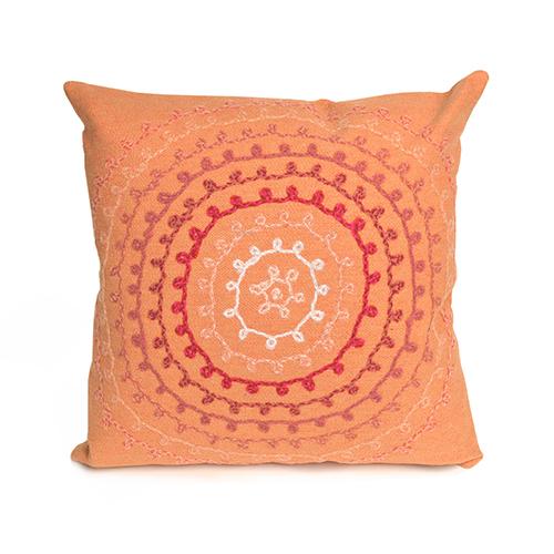 Trans Ocean Import Liora Manne Visions II Orange Square 20 In. Indoor/Outdoor Pillow